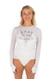 Long Sleeve Easy in the Island UPF50 Top - White