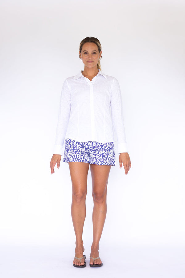 Gillian Knit Shirt - White