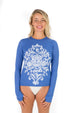 Long Sleeve Hidden Surfer UPF50 Top - Barbuda Blue