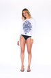 Long Sleeve Hidden Surfer UPF50 top - White