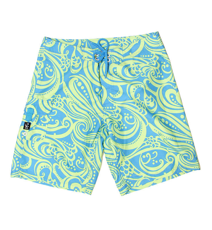 Tobago Surf Short - Lime Wave