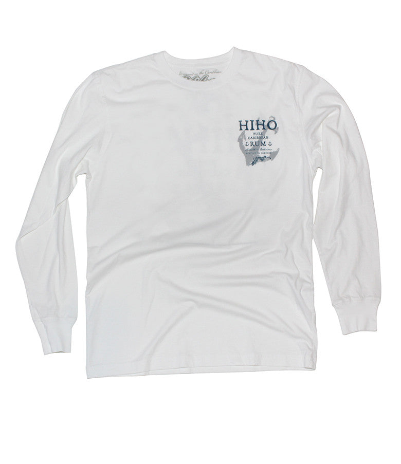 HIHO Rum Patch - White - Long Sleeve