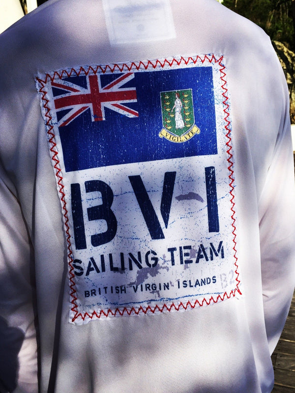 Long Sleeve BVI Sailing Team Suntek - White