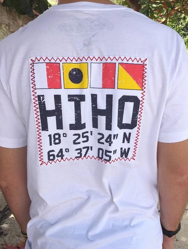 HIHO Flags Patch S/S - White