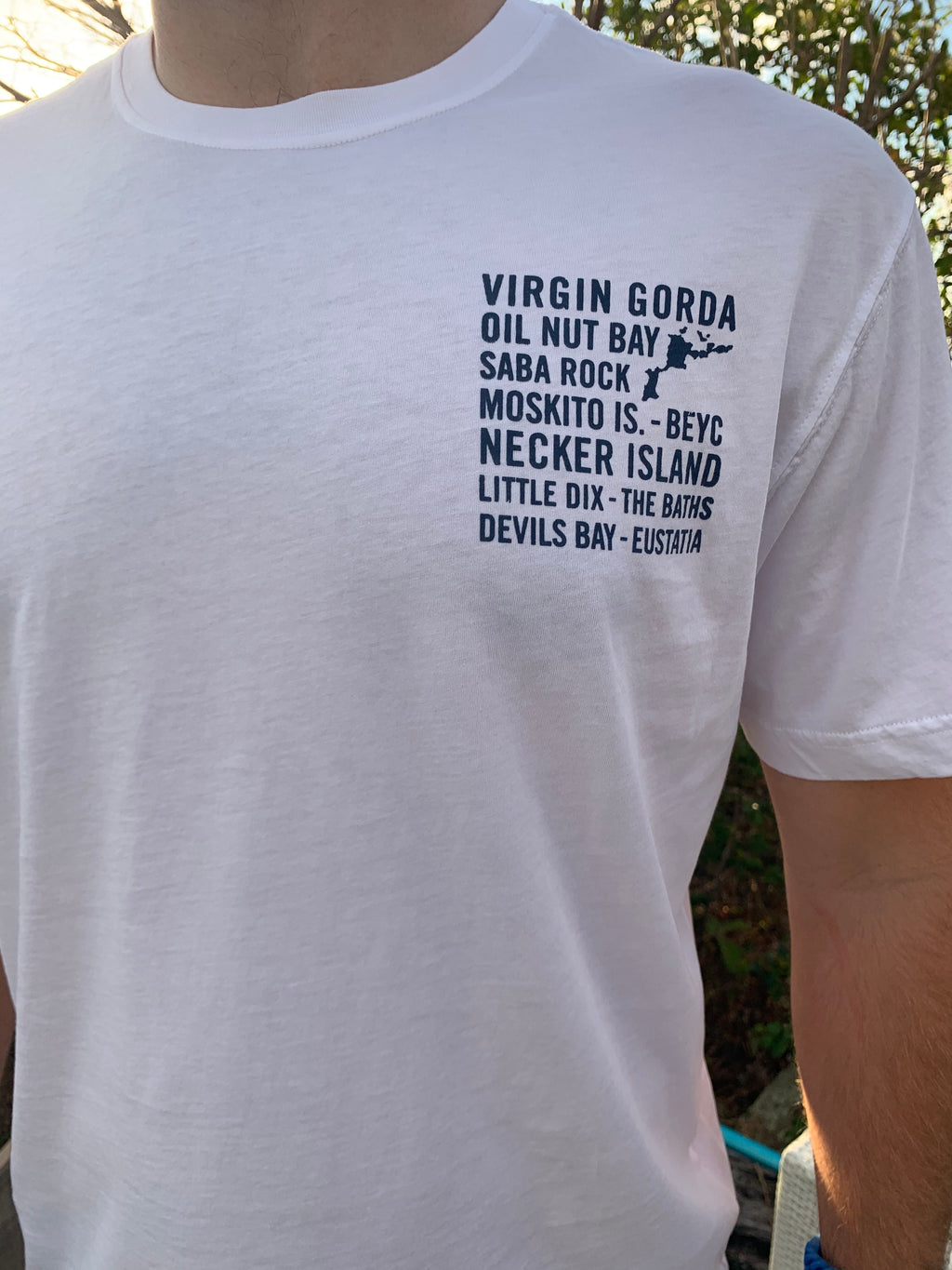Short Sleeve VG Island Names T-Shirt - White