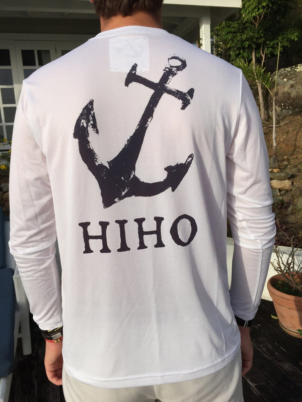 L/S HIHO Anchor Suntek - white