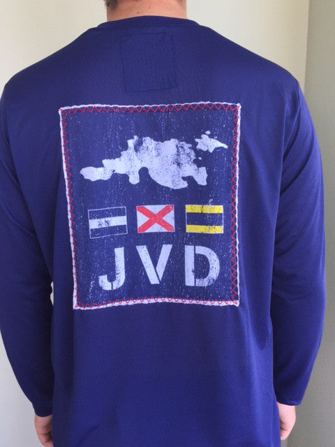 L/S JVD Patch - Patriot Blue