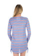 Lace Up UPF50 Dress - Down Island Stripe
