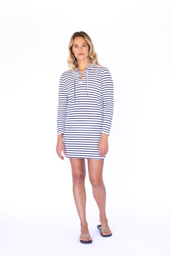 Maricel UPF50 Dress - Night Sky Stripe