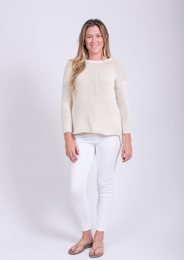 Relaxed Crew Sweater - Mainsail White