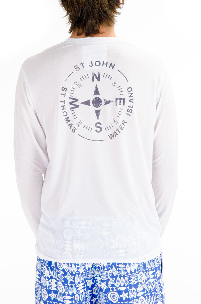Long Sleeve VI Compass Suntek - White