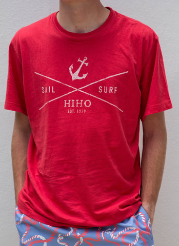 S/S Sail & Surf T-shirt - New Red