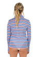 Zip Front UPF50 Top - Down Island Stripe