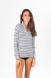 Suntek Zip Front Top - Night Sky Stripe