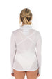 Zip Front UPF50 Top - White