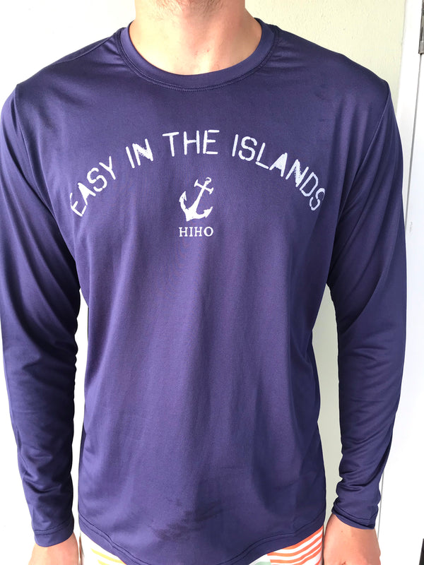 Long Sleeve Easy In The Islands UPF50 Shirt - Patriot Blue