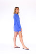Lace Up UPF50 Dress - Barbuda Blue