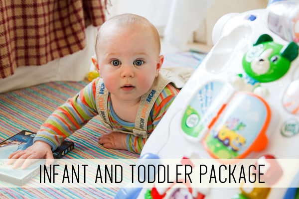 infant and toddler package online child care classes