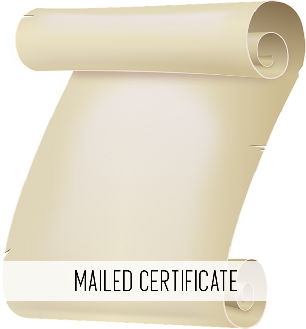 mailed certificate