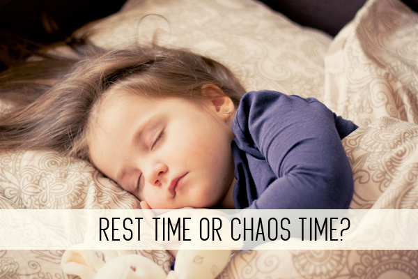 rest time or chaos time? online child care class