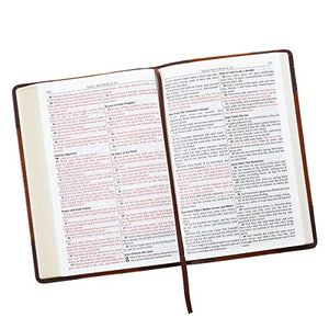 KJV Holy Bible, Thinline Large Print Bible, Two-tone Brown Faux Leather Bible w/Ribbon Marker, Red Letter Edition, King James Version (English, ... Gujarati, Bengali and Korean Edition) - Lilrobinzz-clout