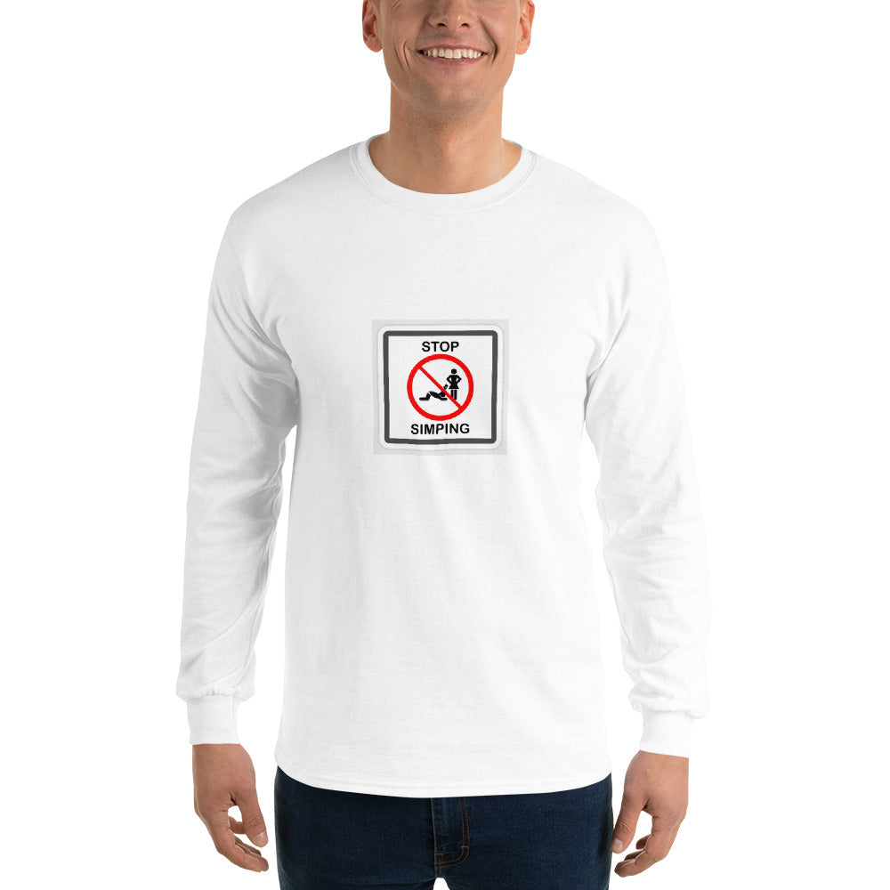 stop simping Men's Long Sleeve Shirt - Lilrobinzz-clout