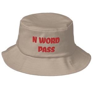 N WORD PASS Old School Bucket Hat - Lilrobinzz-clout