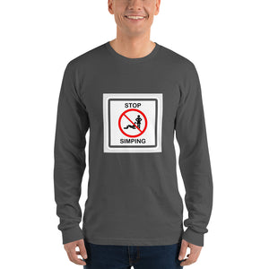 Stop simping Long sleeve t-shirt - Lilrobinzz-clout