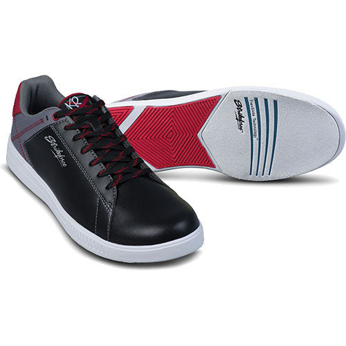 Atlas Black/Grey/Red Bowling Shoes