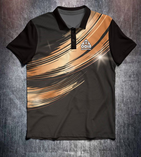 Black Gold wave design shirt