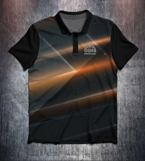Black Brown abstract design shirt