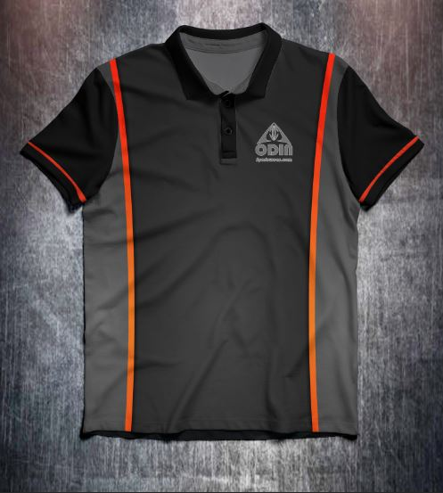 Black Orange design shirt