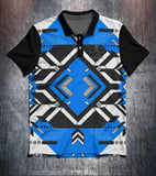 Blue Black White Technical Tenpin Bowling Shirt and Apparel