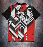 Red Black White Technical Tenpin Bowling Shirt and Apparel