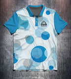 Blue Geometric Circles Tenpin Bowling Shirt and Apparel