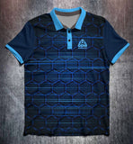 Blue Hexagon Tenpin Bowling Shirt and Apparel