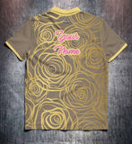 Gold Roses Tenpin Bowling Shirt and Apparel