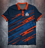Blue and Orange Lines Tenpin Bowling Shirt and Apparel