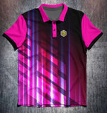 Pink Black Purple Lines Tenpin Bowling Shirt and Apparel