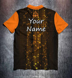 Orange Black Technical Tenpin Bowling Shirt and Apparel