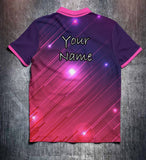 Pink Purple Lines Tenpin Bowling Shirt and Apparel
