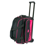 Pink 2 ball roller double roller bowling bag