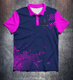 Vivid Pink Blue Tenpin Bowling Shirt and Apparel
