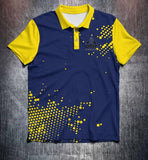 Vivid Yellow Blue Tenpin Bowling Shirt and Apparel