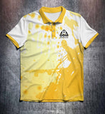 Yellow White Splash Tenpin Bowling Shirt and Apparel