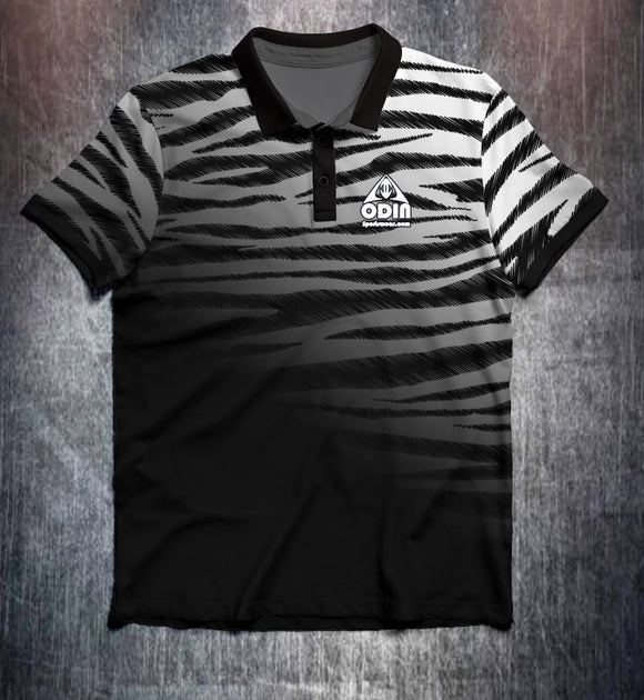 Black White Zebra Fade Tenpin Bowling Shirt and Apparel