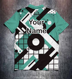 Green Black White Technical Tenpin Bowling Shirt and Apparel