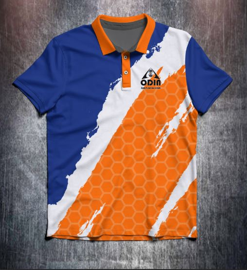 Orange Blue Slash Tenpin Bowling Shirt and Apparel