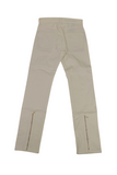 White Zipper Jeans