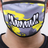 Monster Bite Face Mask Camo